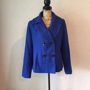 { Merona } Bright Blue Coat